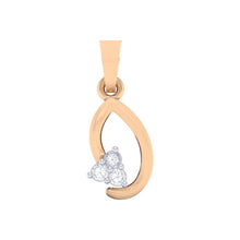 Load image into Gallery viewer, 18Kt rose gold real diamond pendant 13(1) by diamtrendz