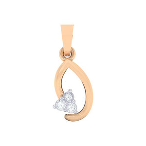 18Kt rose gold real diamond pendant 13(1) by diamtrendz