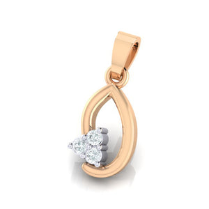 18Kt rose gold real diamond pendant 13(2) by diamtrendz