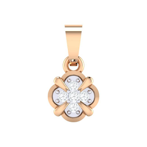 18Kt rose gold real diamond pendant 14(1) by diamtrendz