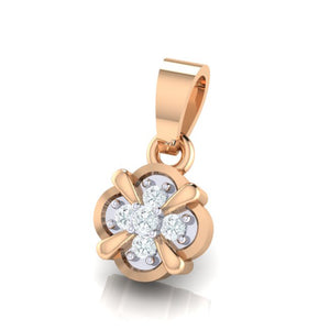 18Kt rose gold real diamond pendant 14(2) by diamtrendz