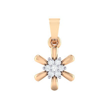 Load image into Gallery viewer, 18Kt rose gold real diamond pendant 15(1) by diamtrendz