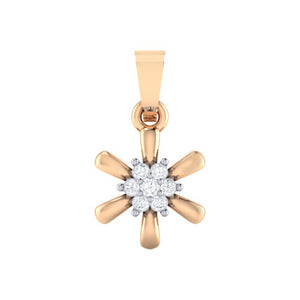 18Kt rose gold real diamond pendant 15(1) by diamtrendz
