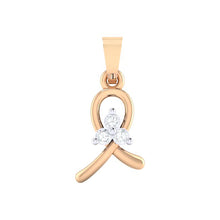 Load image into Gallery viewer, 18Kt rose gold real diamond pendant 16(1) by diamtrendz