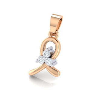18Kt rose gold real diamond pendant 16(2) by diamtrendz