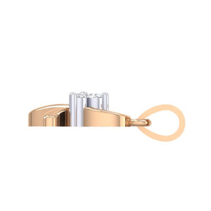 18Kt rose gold real diamond pendant 16(3) by diamtrendz