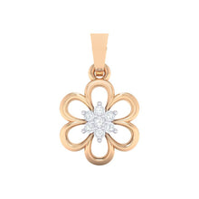 Load image into Gallery viewer, 18Kt rose gold floral diamond pendant by diamtrendz