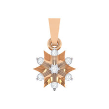 Load image into Gallery viewer, 18Kt rose gold star diamond pendant by diamtrendz