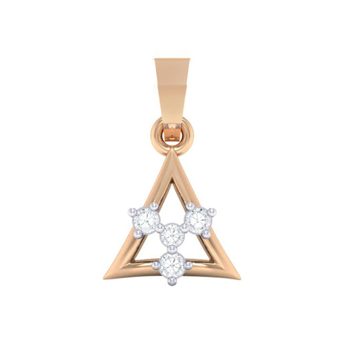 18Kt Gold Diamond Pendant - Triangle