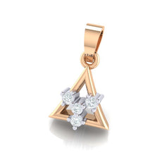 Load image into Gallery viewer, 18Kt rose gold triangle diamond pendant by diamtrendz
