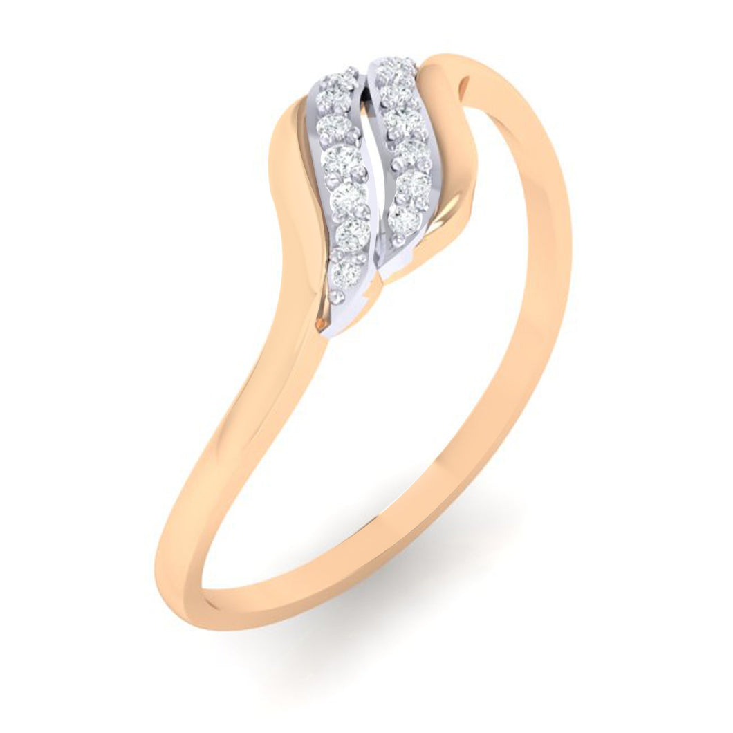 18Kt rose gold natural diamond ring by diamtrendz