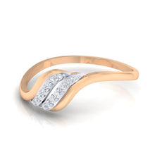 Load image into Gallery viewer, 18Kt rose gold natural diamond ring by diamtrendz