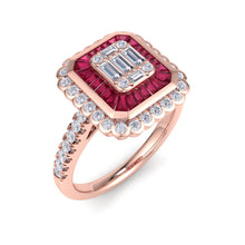 Load image into Gallery viewer, 18Kt rose gold designer solitaire diamond ring by diamtrendz