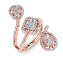 Load image into Gallery viewer, 18Kt rose gold designer diamond ring by diamtrendz