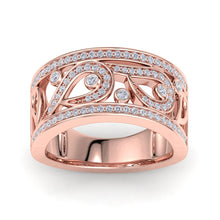 Load image into Gallery viewer, 18Kt rose gold designer band diamond ring by diamtrendz