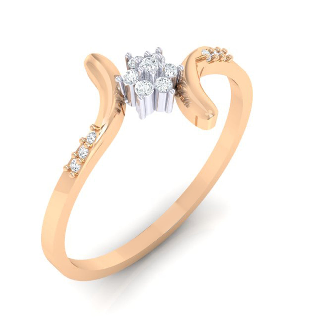 18Kt rose gold real diamond ring 25(1) by diamtrendz