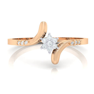 18Kt rose gold real diamond ring 25(2) by diamtrendz