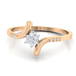 18Kt rose gold real diamond ring 25(3) by diamtrendz