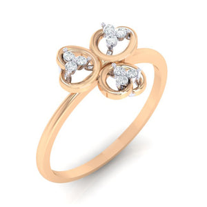 18Kt rose gold real diamond ring 26(1) by diamtrendz