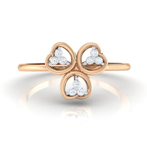 18Kt rose gold real diamond ring 26(2) by diamtrendz