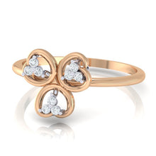 Load image into Gallery viewer, 18Kt rose gold real diamond ring 26(3) by diamtrendz
