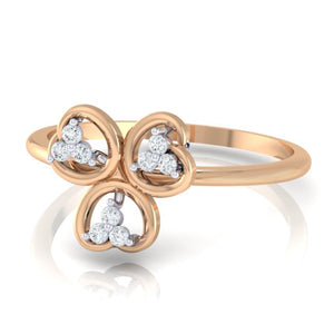 18Kt rose gold real diamond ring 26(3) by diamtrendz