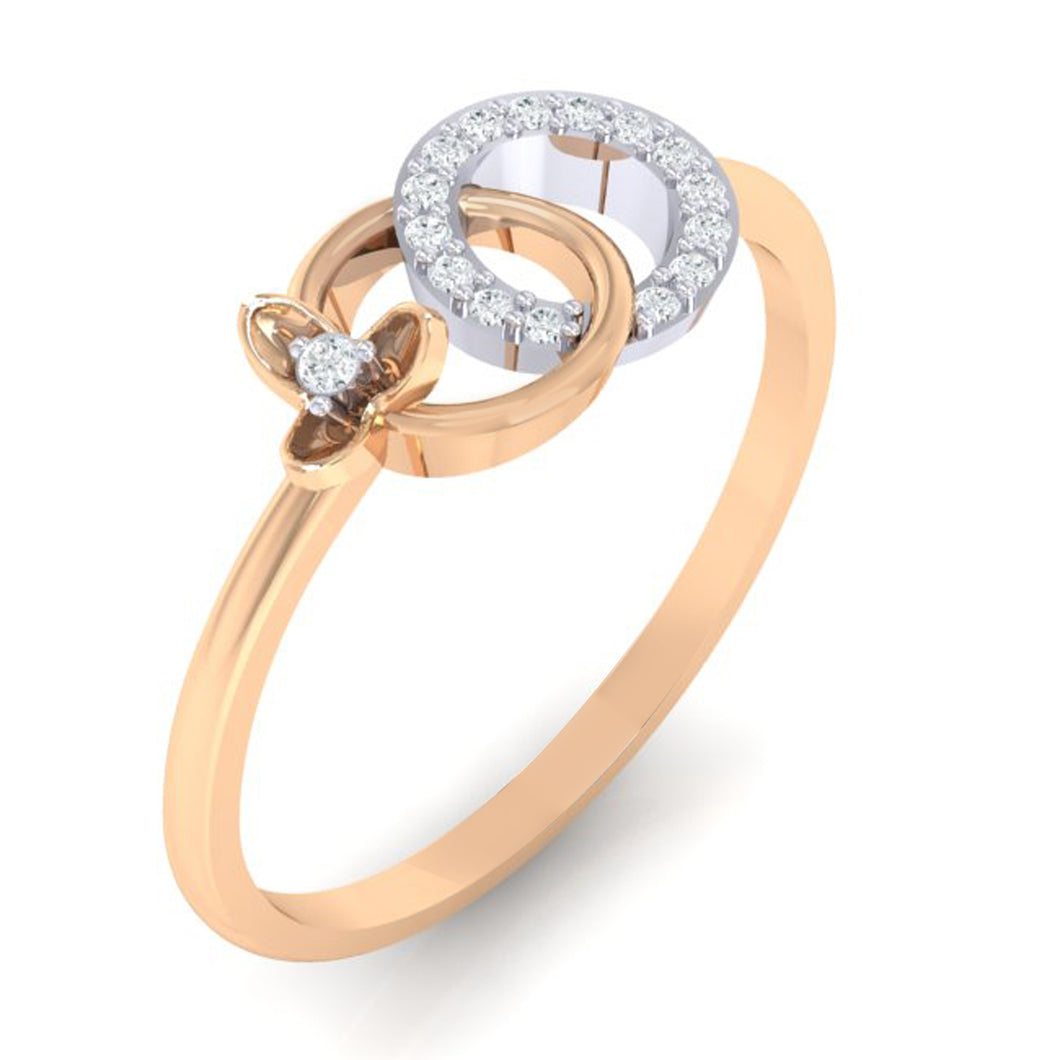 18Kt rose gold real diamond ring 27(1) by diamtrendz