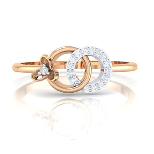 18Kt rose gold real diamond ring 27(2) by diamtrendz