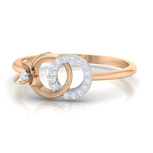 Load image into Gallery viewer, 18Kt rose gold real diamond ring 27(3) by diamtrendz