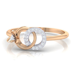 18Kt rose gold real diamond ring 27(3) by diamtrendz