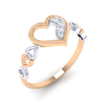 Load image into Gallery viewer, 18Kt rose gold real diamond ring 29(1) by diamtrendz