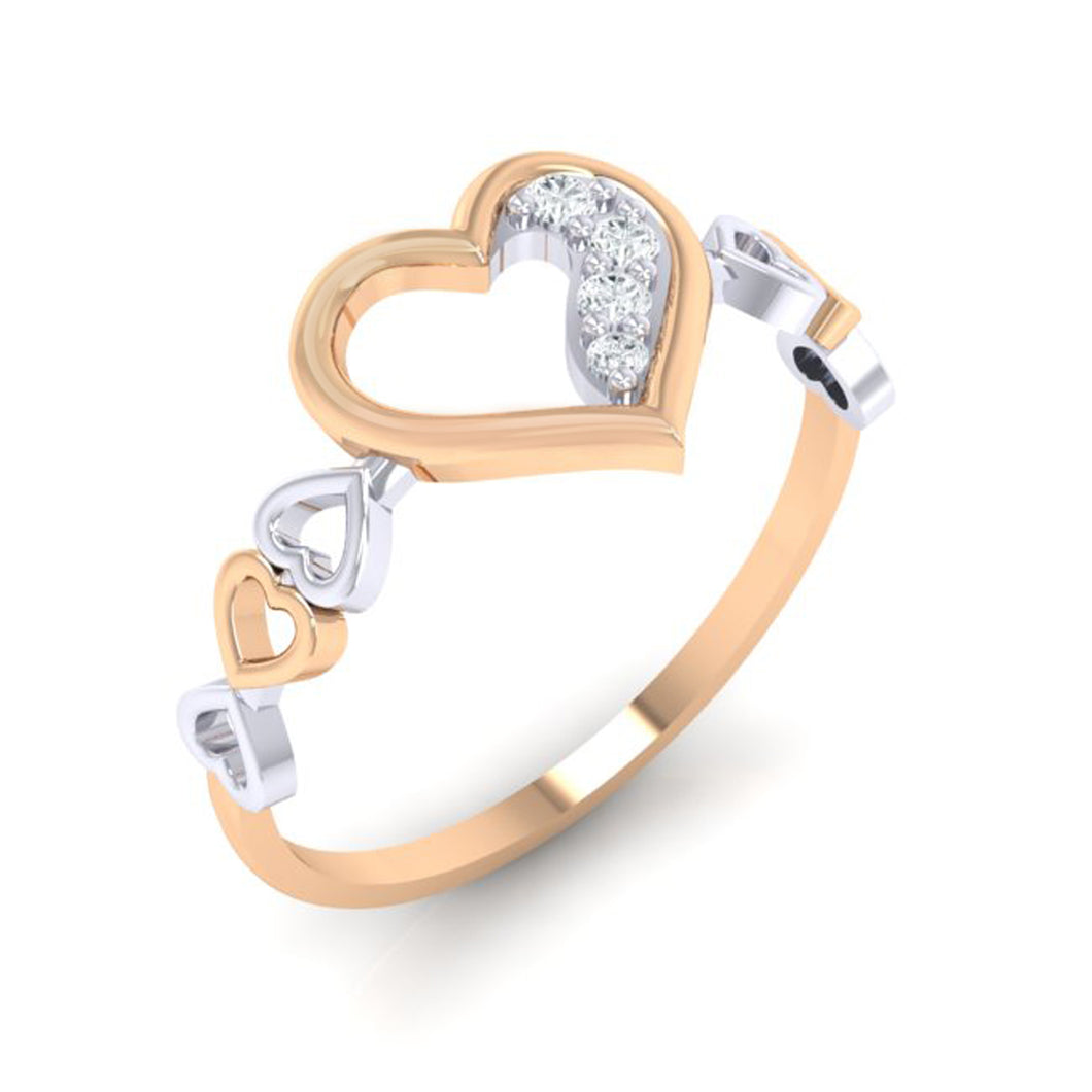 18Kt rose gold real diamond ring 29(1) by diamtrendz