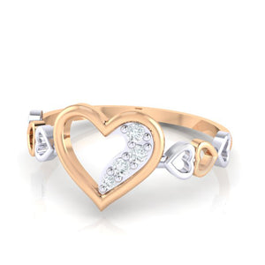 18Kt rose gold real diamond ring 29(3) by diamtrendz