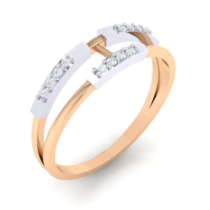 18Kt rose gold real diamond ring 30(1) by diamtrendz