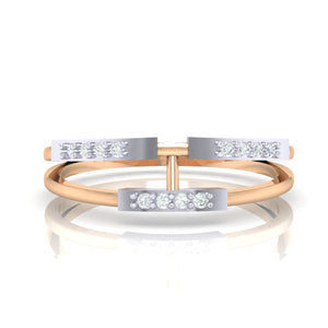 18Kt rose gold real diamond ring 30(2) by diamtrendz