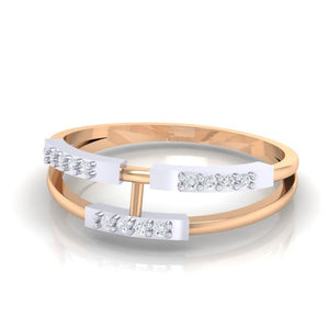 18Kt rose gold real diamond ring 30(3) by diamtrendz
