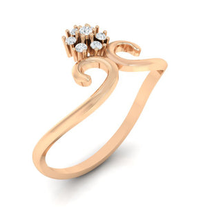 18Kt rose gold real diamond ring 31(1) by diamtrendz