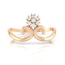 Load image into Gallery viewer, 18Kt rose gold real diamond ring 31(2) by diamtrendz