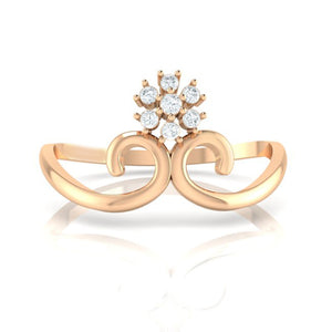 18Kt rose gold real diamond ring 31(2) by diamtrendz