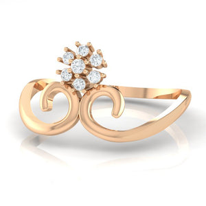 18Kt rose gold real diamond ring 31(3) by diamtrendz