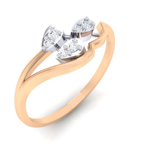 18Kt rose gold real diamond ring 32(1) by diamtrendz