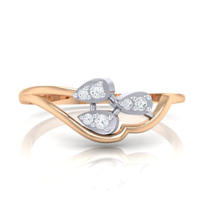 18Kt rose gold real diamond ring 32(2) by diamtrendz