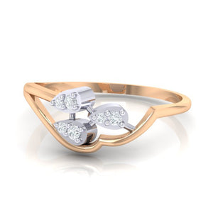 18Kt rose gold real diamond ring 32(3) by diamtrendz