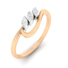 Load image into Gallery viewer, 18Kt rose gold real diamond ring 33(1) by diamtrendz