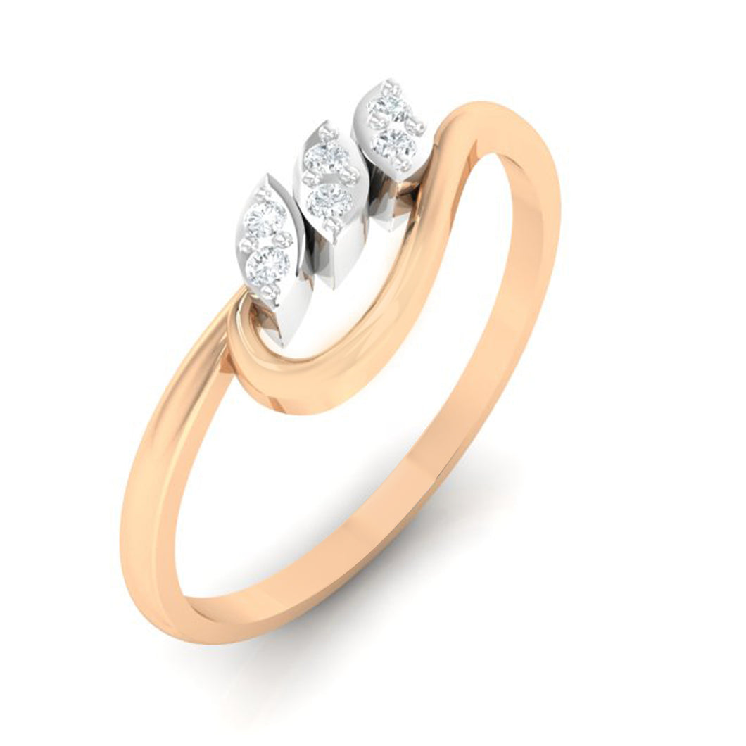 18Kt rose gold real diamond ring 33(1) by diamtrendz