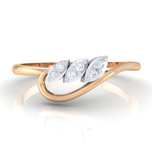 18Kt rose gold real diamond ring 33(2) by diamtrendz
