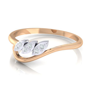 18Kt rose gold real diamond ring 33(3) by diamtrendz