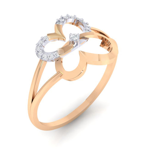 18Kt rose gold real diamond ring 34(1) by diamtrendz