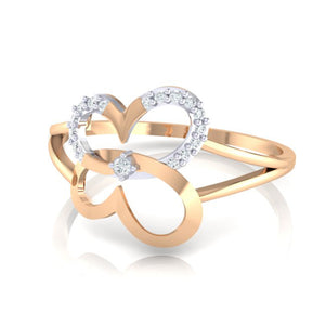18Kt rose gold real diamond ring 34(3) by diamtrendz