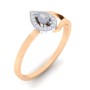 18Kt rose gold real diamond ring 35(1) by diamtrendz